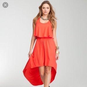 Bebe High Low Maxi Dress
